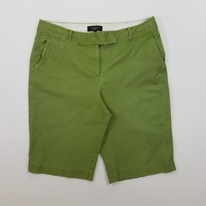 Talbots Military Green Bermuda Shorts Size 12